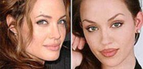 Ее называют клоном Джоли.