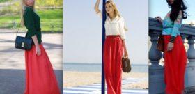 Модная тенденция – Макси юбка